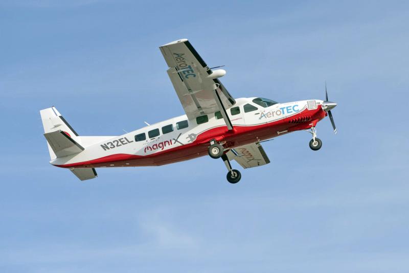 Primeiro voo bem-sucedido da maior aeronave totalmente elétrica do mundo: Cessna Grand Caravan 208B foto:divulgação