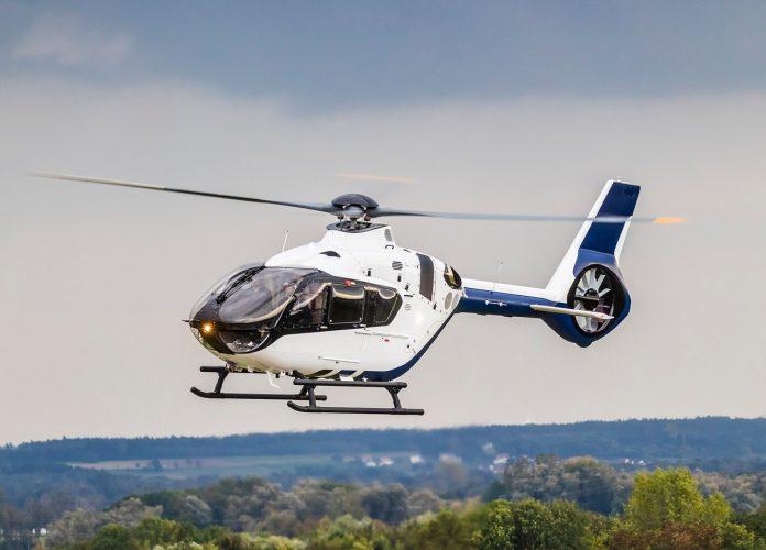 Um helicóptero Airbus H135. (FOTO: Helicópteros Airbus)