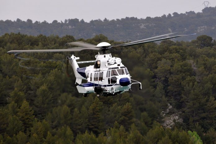 Um helicóptero Airbus H225. (FOTO: Helicópteros Airbus)