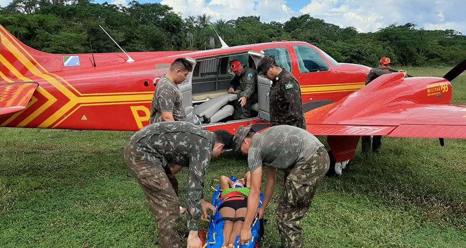 Avião equipado com recursos trabalhistas auxiliam transporte de pacientes com Covid-19 (Foto: Divulgação/Assessoria de Imprensa TRT)