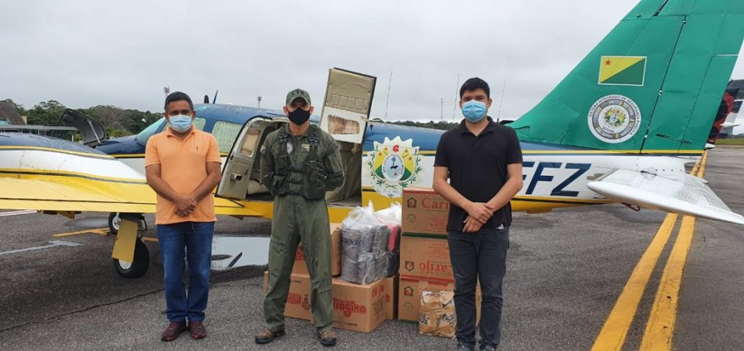eronave do Estado já realizou várias entregas de materiais hospitalares aos municípios de difícil acesso desde o início da pandemia Foto: cedida