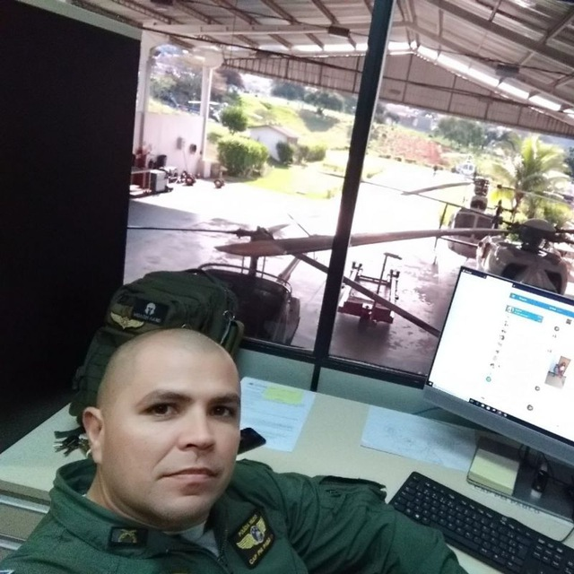 Capitão Pablo, piloto do NOTAER e Chefe da Seção de Comunicação. Foto: Divulgação/NOTAER