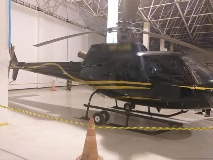 Helicóptero apreendido (Foto: Polícia Civil)