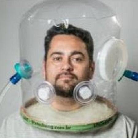 Bolha de respiração individual controlada serve para ventilação não-invasiva e isolar o paciente Imagem: Divulgação