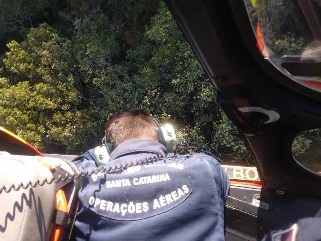 Queda foi em área restrita na mata | Foto CBMSC