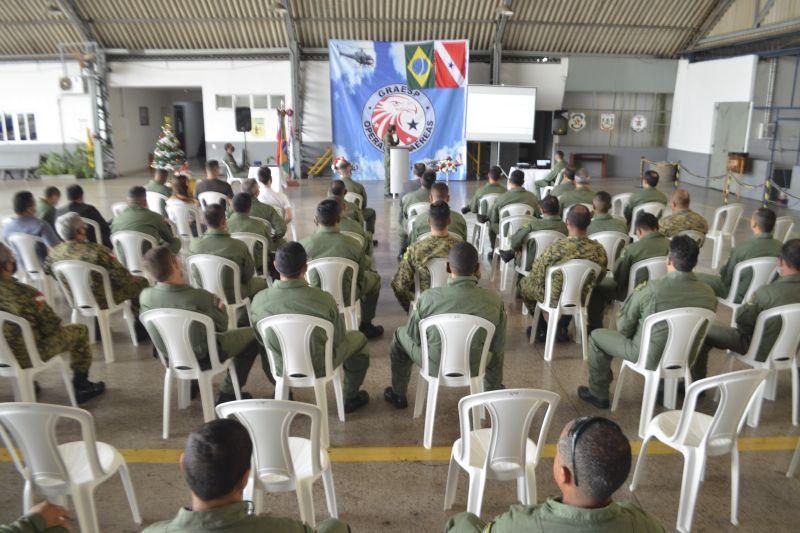 A solenidade de conclusão foi realizada no hangar do Graesp, em Belém