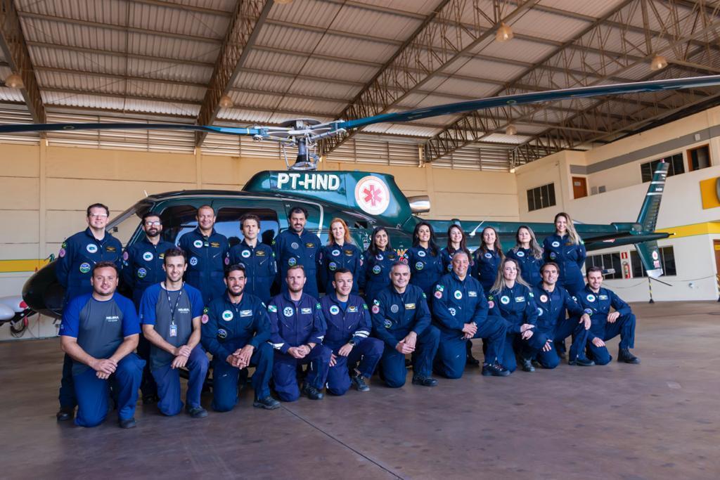 Foto: Serviço aeromédico de Maringá