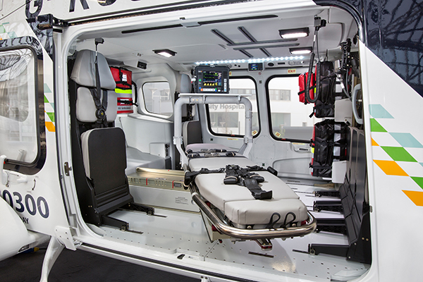 Kent, Surrey & Sussex air ambulance AW169 interiors