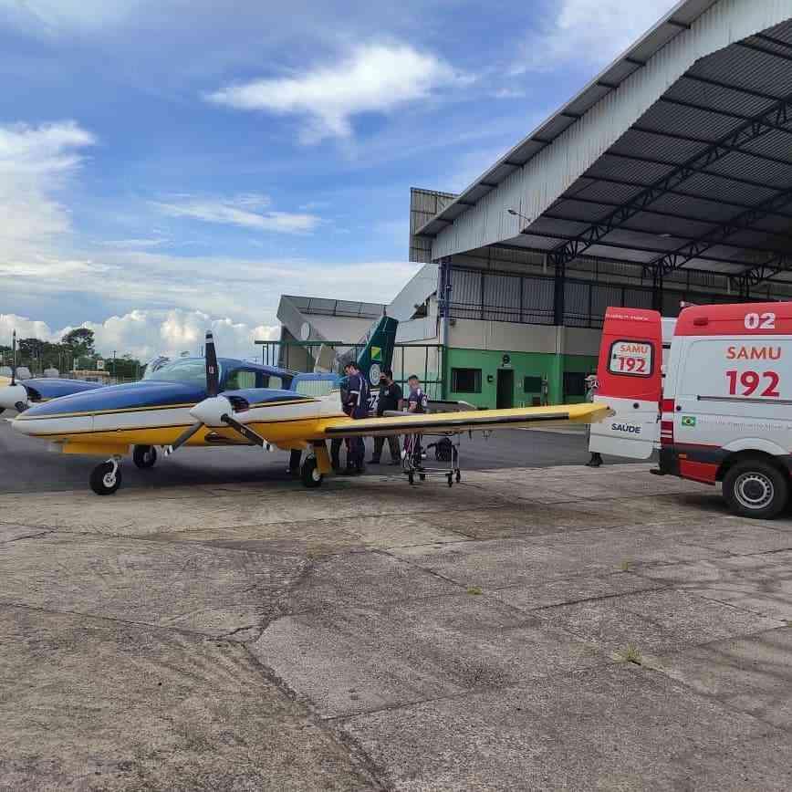 Para o resgate, a tripulação usou o harpia 02, avião bimotor que tem capacidade para seis pessoas