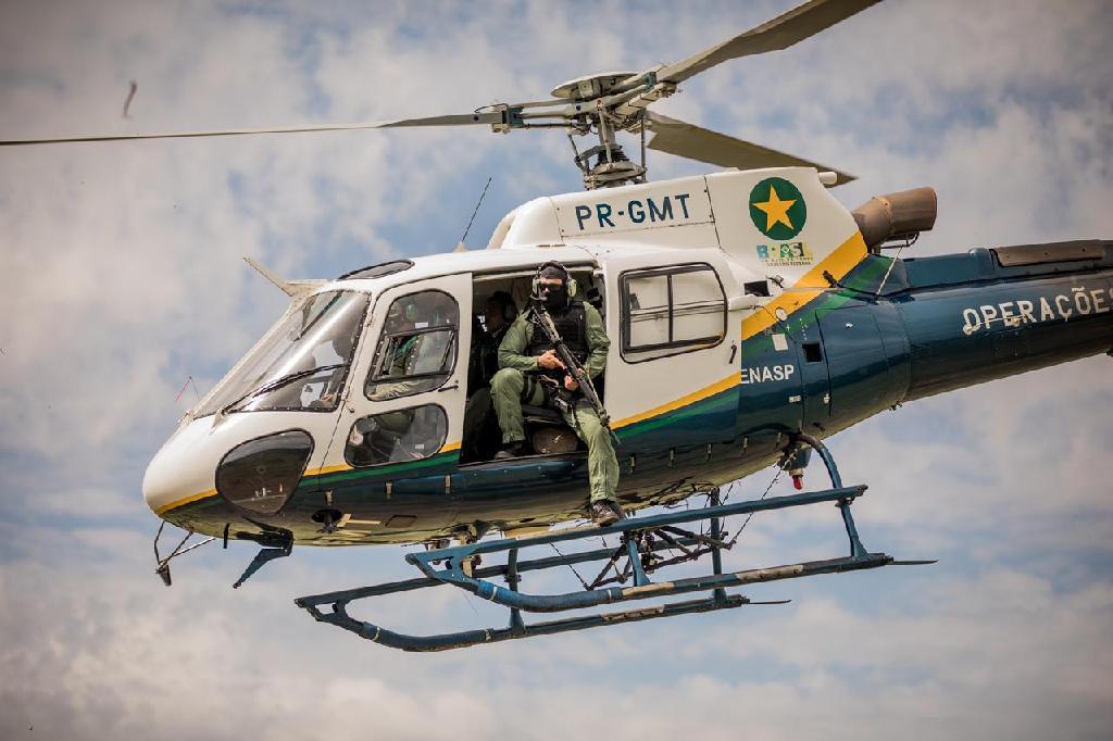 Helicóptero do Ciopaer - Foto por: Christiano Antonucci/Secom-MT