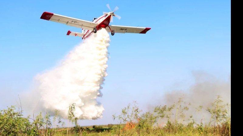 Aeronave será utilizada para combater incêndios florestais em MS - Foto ilustrativa | SD Mychael Vargas | Bombeiros DF | Reprodução
