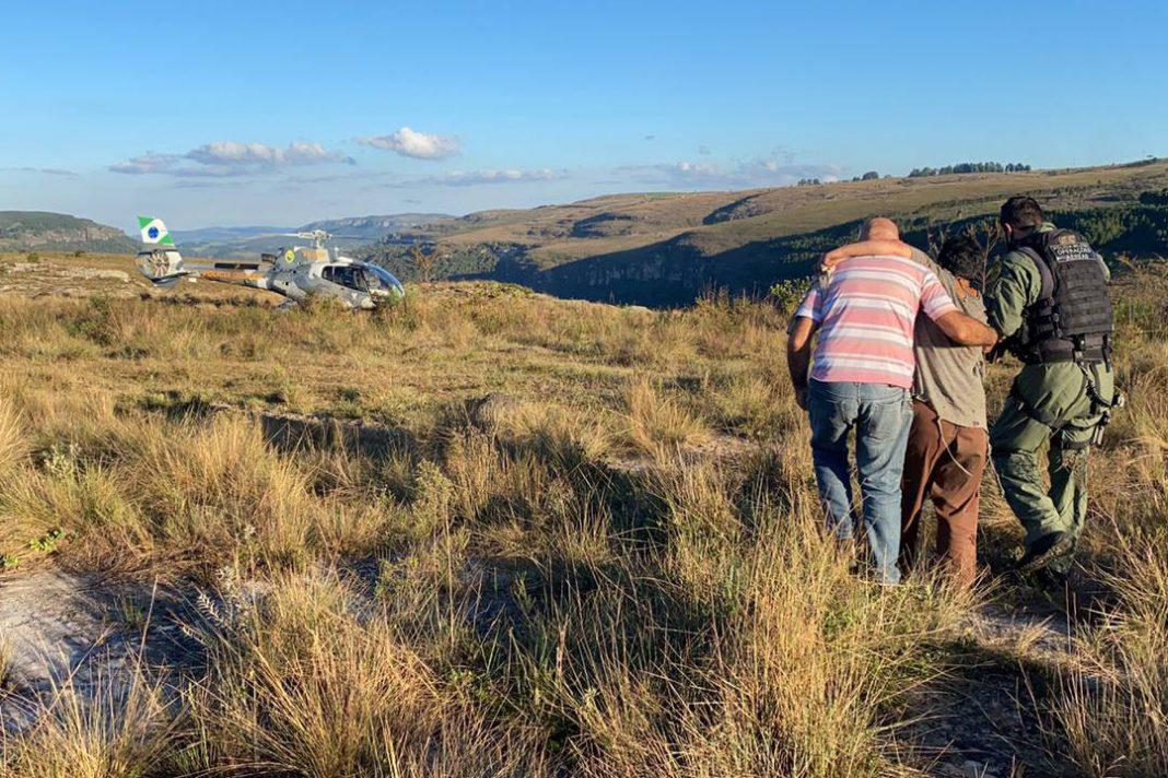 BPMOA encontra mulher perdida no Canyon Guartelá, nos Campos Gerais - 16/05/2021 - Foto: BPMOA/PMPR