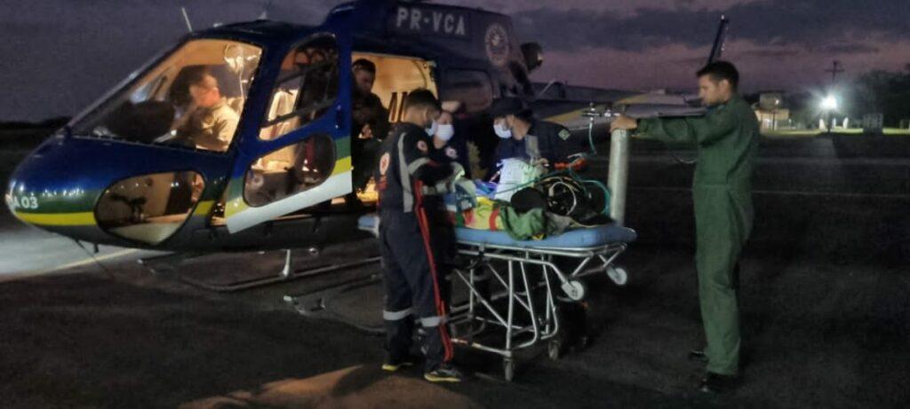 A idosa foi transportada em segurança até dar entrada em um hospital de Rio Branco Foto: Cedida