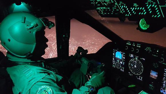 As aeronaves FAP são equipadas com o sistema de navegação noturna NVG (Night Vision Goggles) que permite um voo noturno seguro e eficiente. foto:divulgação-sitediariocorreo