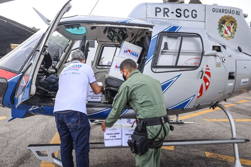 Aeronave do Graesp atua no transporte de vacinas contra a Covid-19 para o interior do Pará Foto: Divulgação