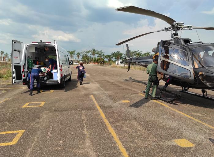 Após 45 minutos de voo, a enferma foi encaminhada para a UTI do Pronto-Socorro. Foto: Cedida
