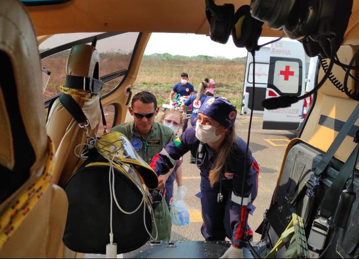 Neste ano, mais de 70 pacientes que puderam receber atendimentos das equipes do Samu e Ciopaer. Foto: Cedida