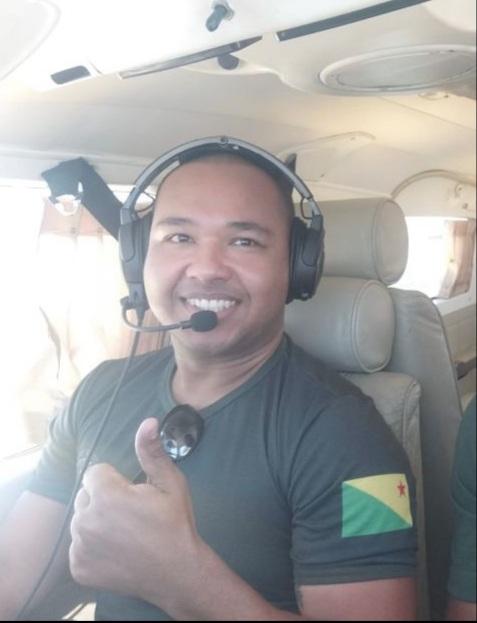 O sargento da Polícia Militar do Acre (PMAC), João Plácido ascendeu à categoria de piloto de avião Foto: Cedida