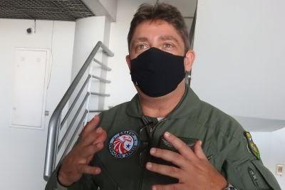 Coronel Armando Bittencourt é piloto do Graesp há seis anos Foto: Divulgação
